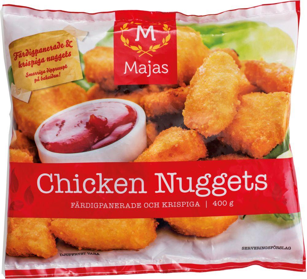 chicken nuggets kolhydrater