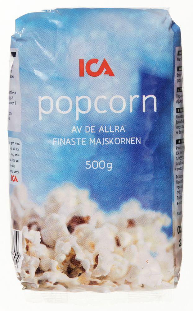 hur mycket kalorier i popcorn