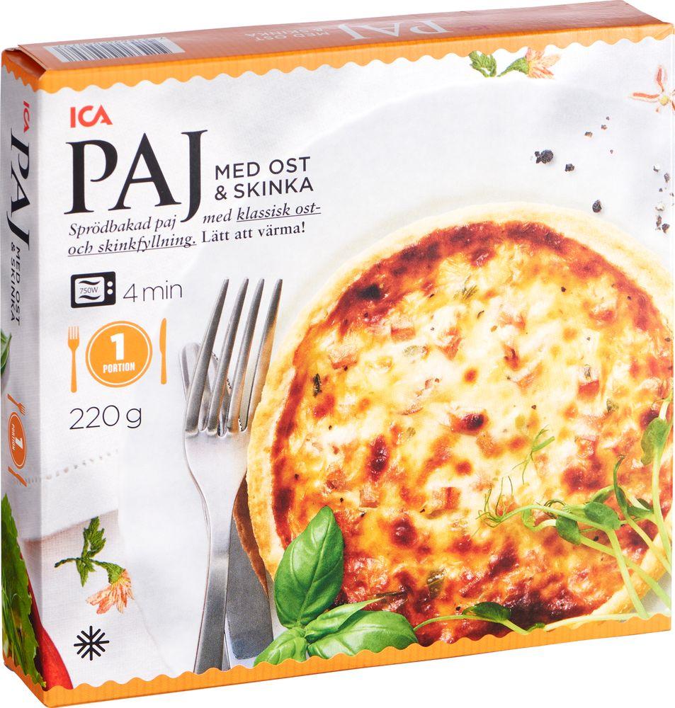 ost och skinkpaj kalorier