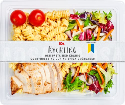 Pastasallad Kyckling Curry Bas Ica 405g Jamfor Pris Handla